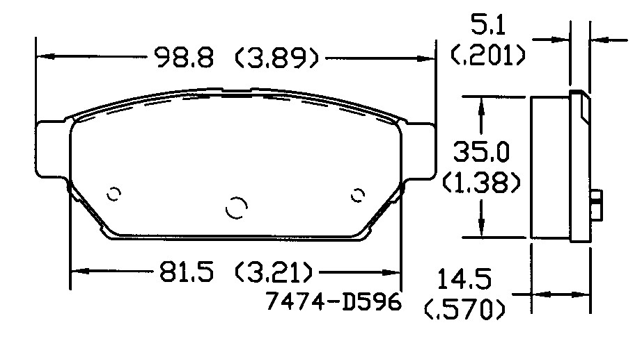 OMNIPARTS - Disc Brake Pad Set (Rear) - OM1 13050437
