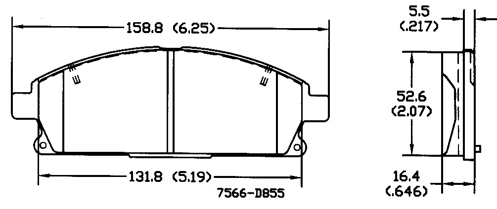 OMNIPARTS - Disc Brake Pad Set (Front) - OM1 13050665