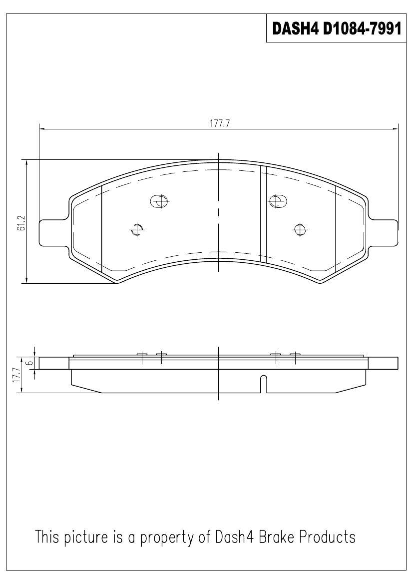 PRONTO DASH 4 - Pronto Metallic Pads (Front) - PDB PMD1084