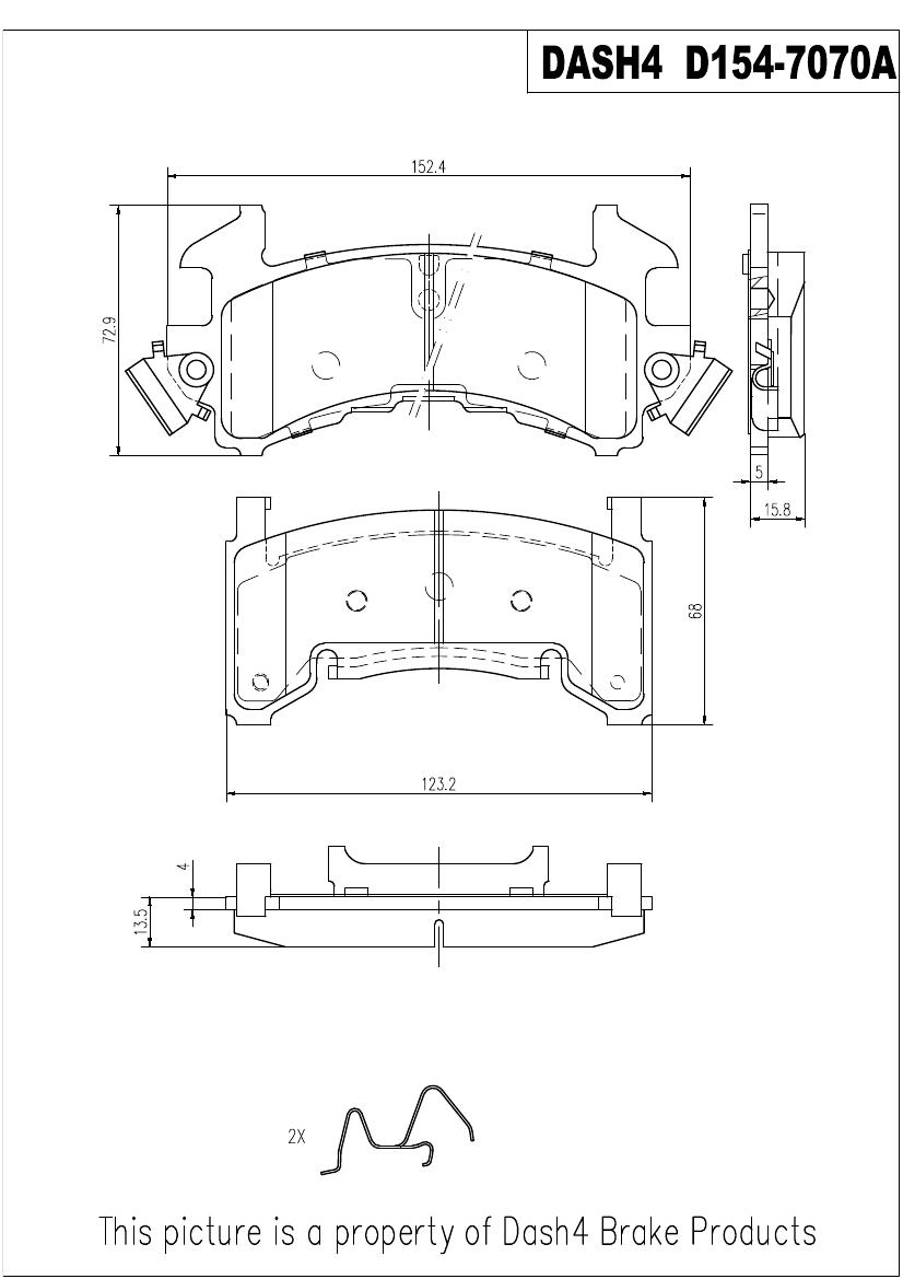 PRONTO DASH 4 - Pronto Metallic Pads - PDB PMD154