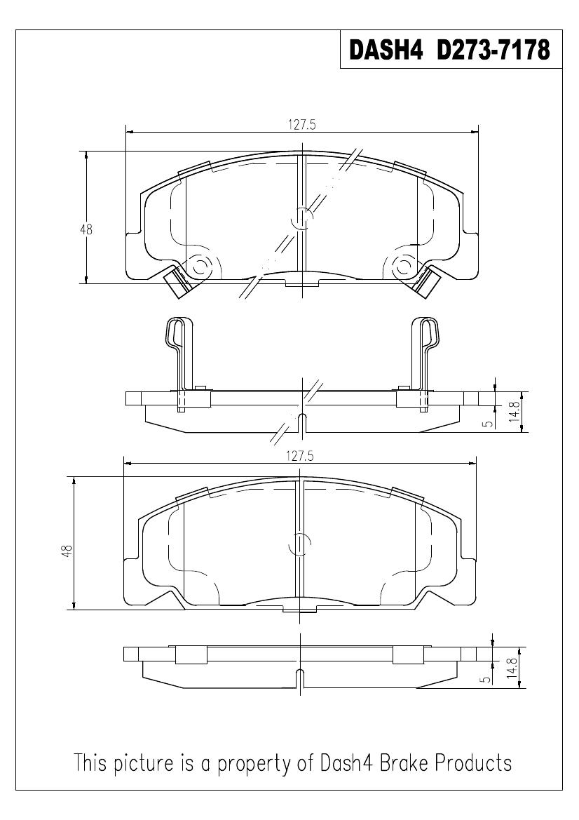 PRONTO DASH 4 - Pronto Metallic Pads (Front) - PDB PMD273