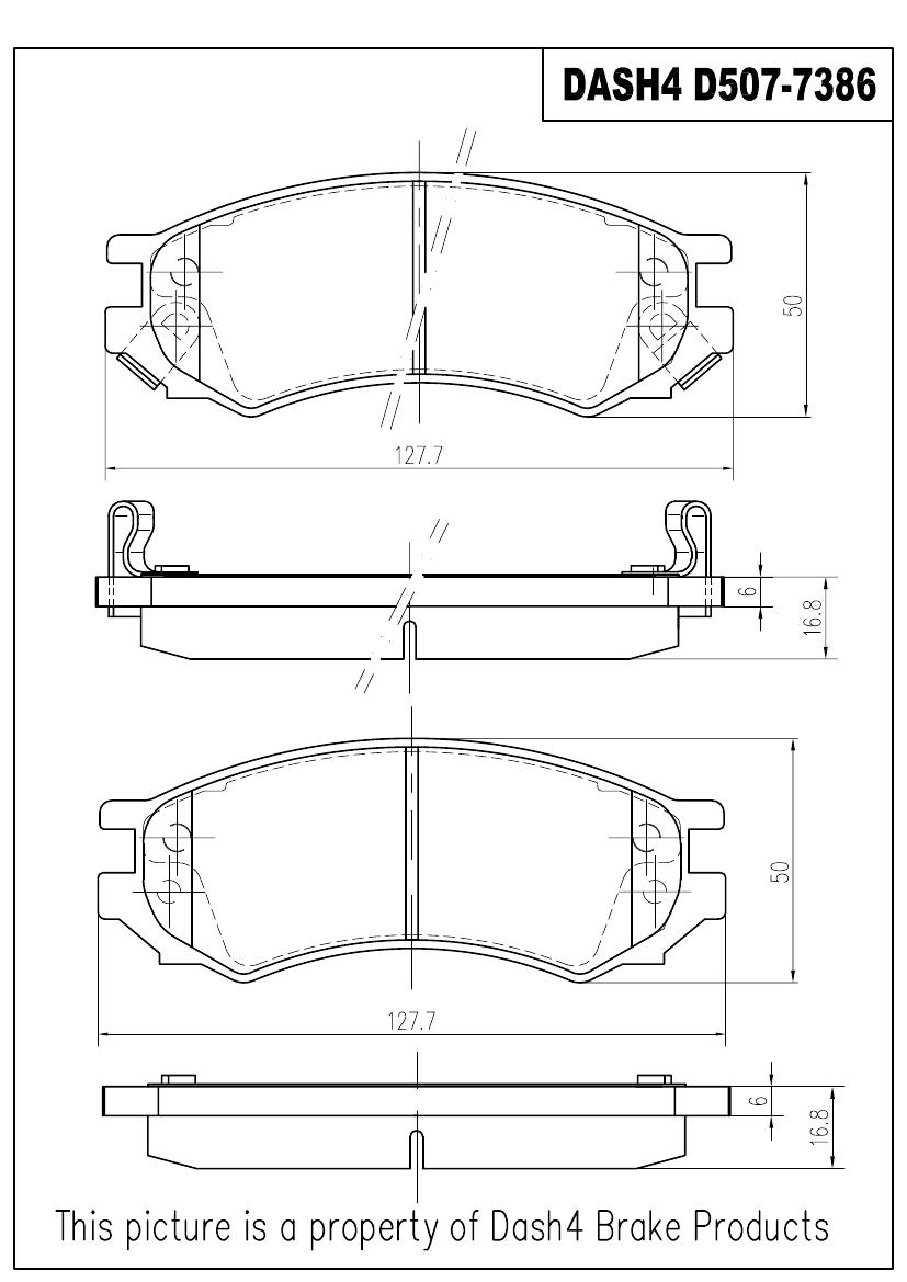 PRONTO DASH 4 - Pronto Metallic Pads (Front) - PDB PMD507