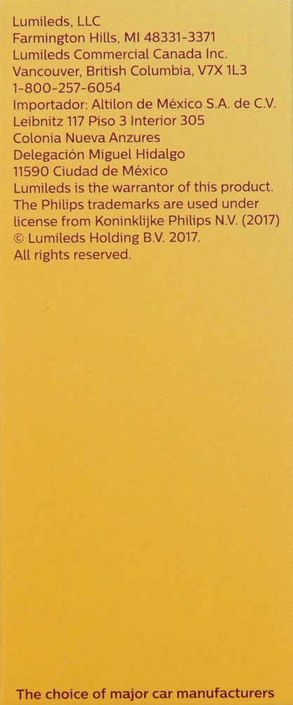 PHILIPS LIGHTING COMPANY - Standard - Single Commercial Pack - PLP H11C1