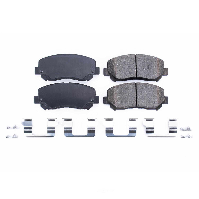 POWER STOP - Z17 Evolution Plus Brake Pad w/Hardware Kit (Front) - PWS 17-1640