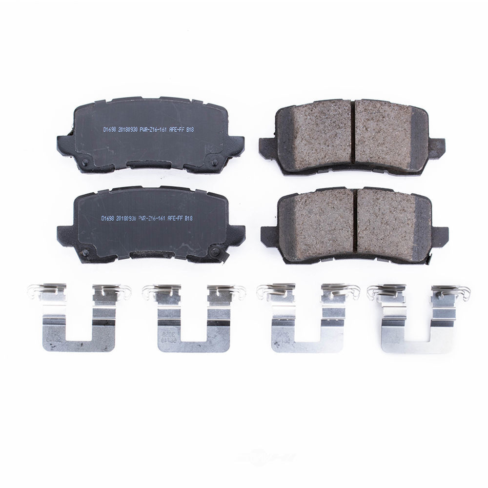 POWER STOP - Power Stop - Rear Z17 Low-Dust Ceramic Brake Pads with Hardware (Rear) - PWS 17-1698