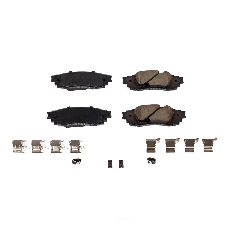 POWER STOP - Power Stop - Rear Z17 Low-Dust Ceramic Brake Pads with Hardware (Rear) - PWS 17-1879