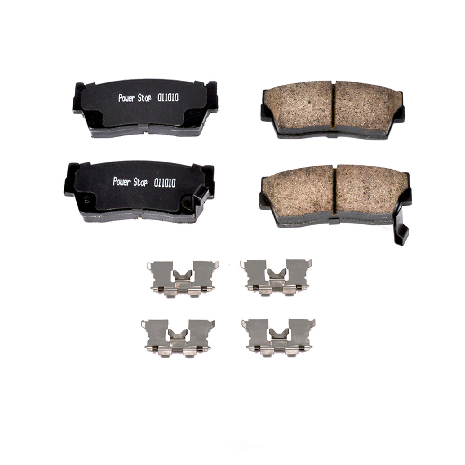 POWER STOP - Z17 Evolution Clean Ride Ceramic Brake Pads with Hardware - PWS 17-418