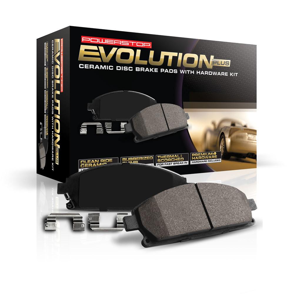 POWER STOP - Z17 Evolution Plus Disc Brake Pad and Hardware Kit (Rear) - PWS 17-928