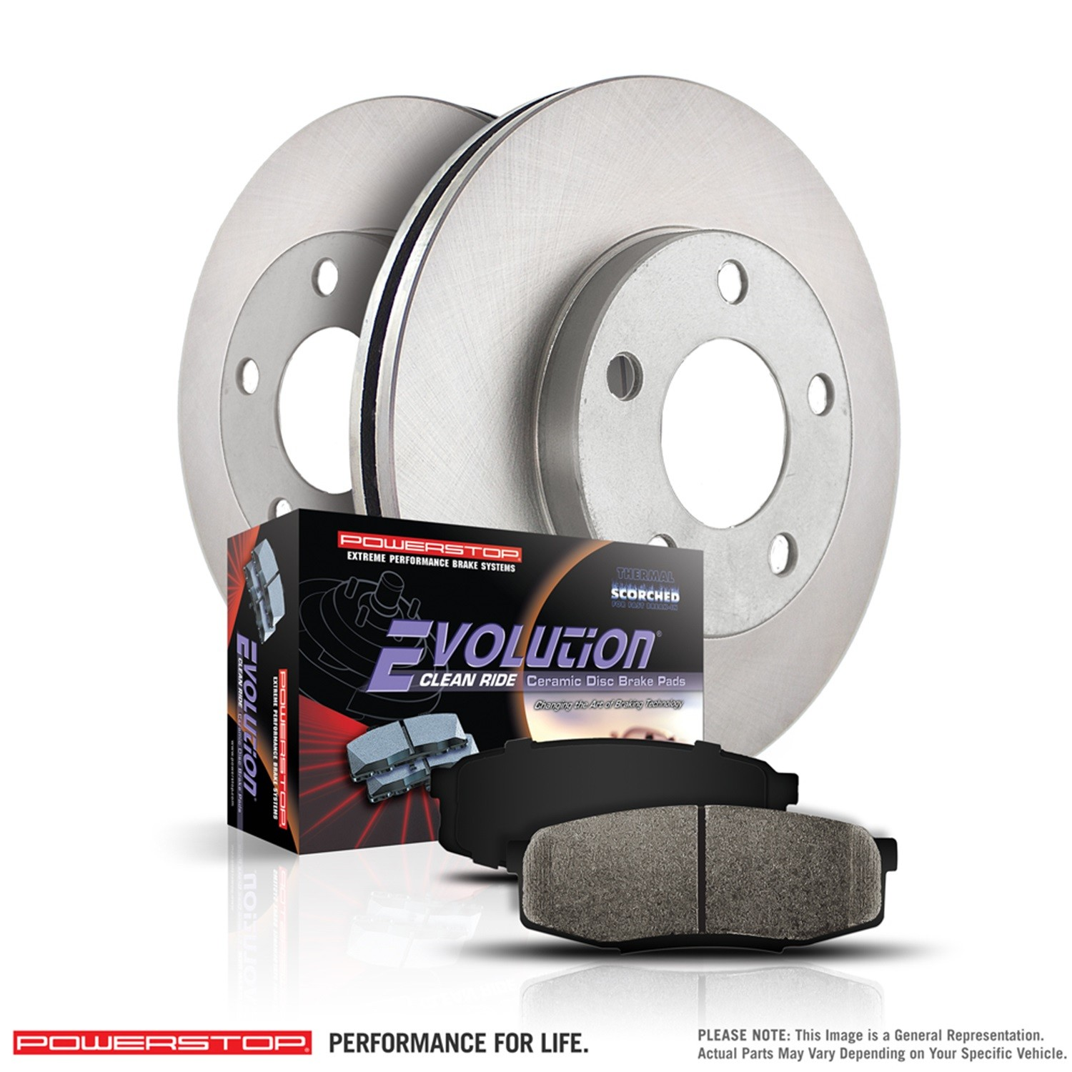 POWER STOP - Autospecialty By Power Stop 1-Click Daily Driver Brake Kits (Rear) - PWS KOE7340