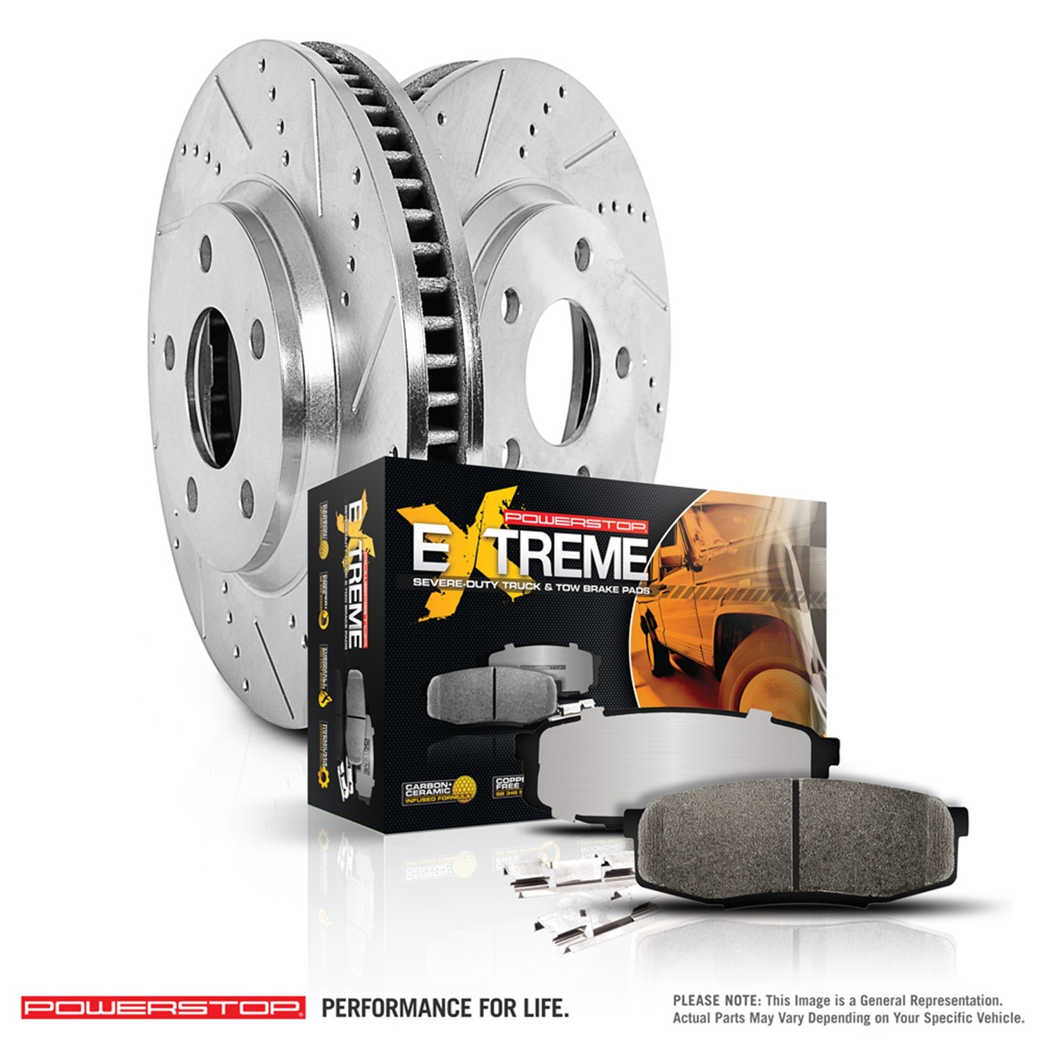 POWER STOP - 1-Click Extreme Truck & Tow Brake Kits - PWS K5579-36