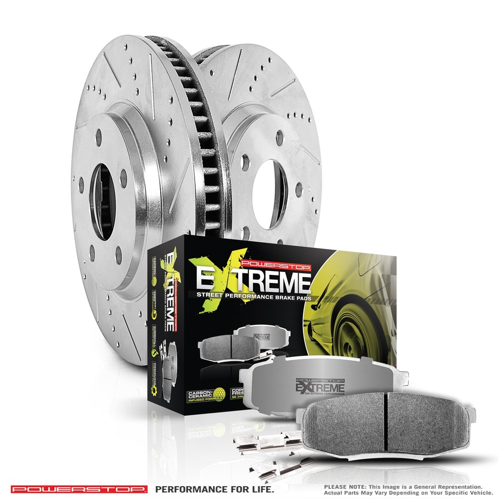 POWER STOP - Z26 Street Warrior 1-Click Brake Kit (Rear) - PWS K847-26