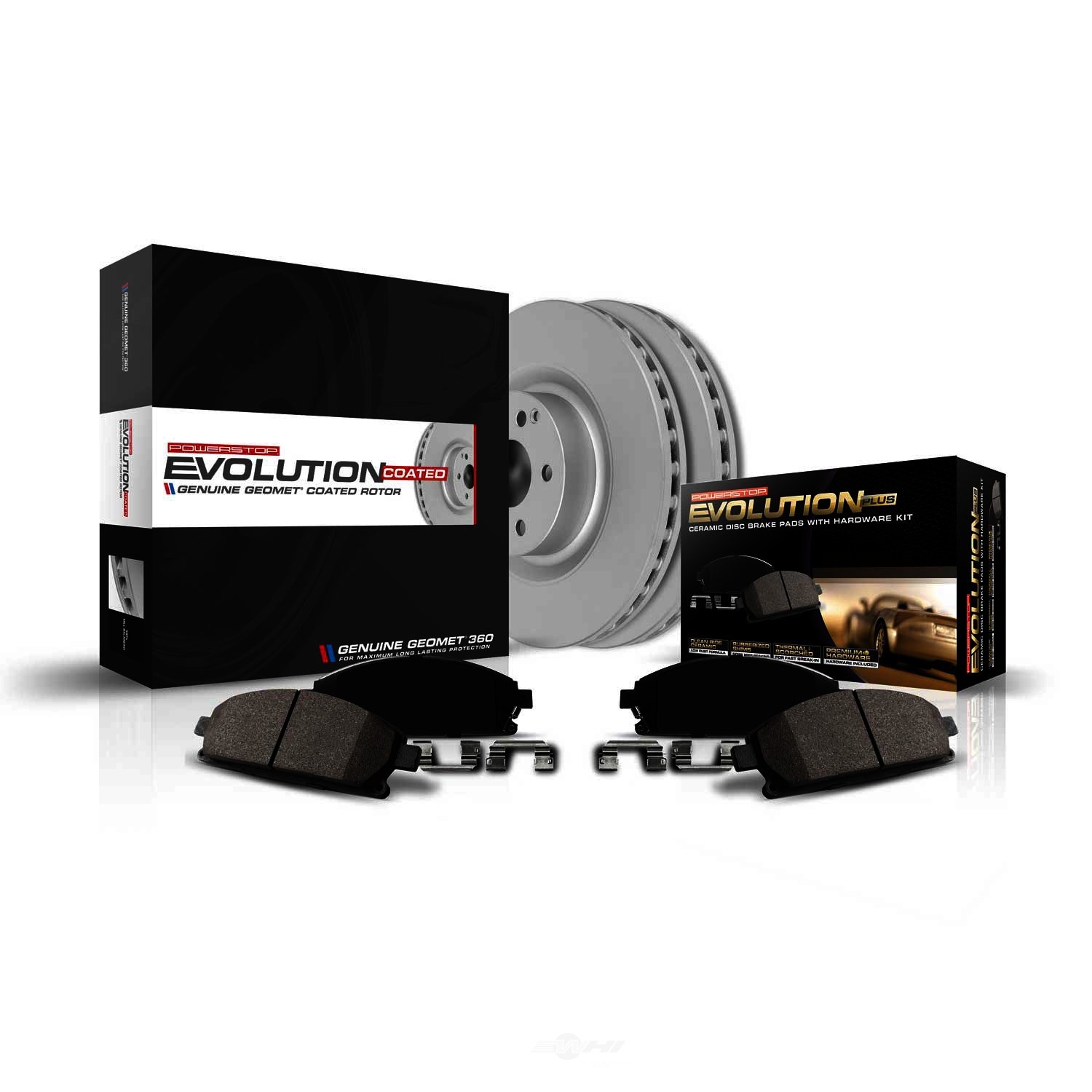 POWER STOP - Z17 Evolution Geomet Coated Brake Kit - PWS CRK2319