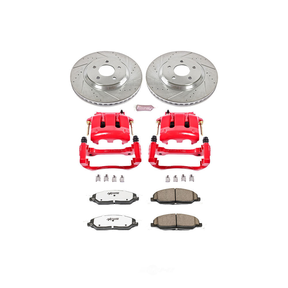 POWER STOP - Z26 Extreme Street Warrior 1-Click Brake Kit w/Calipers (Front) - PWS KC1380-26
