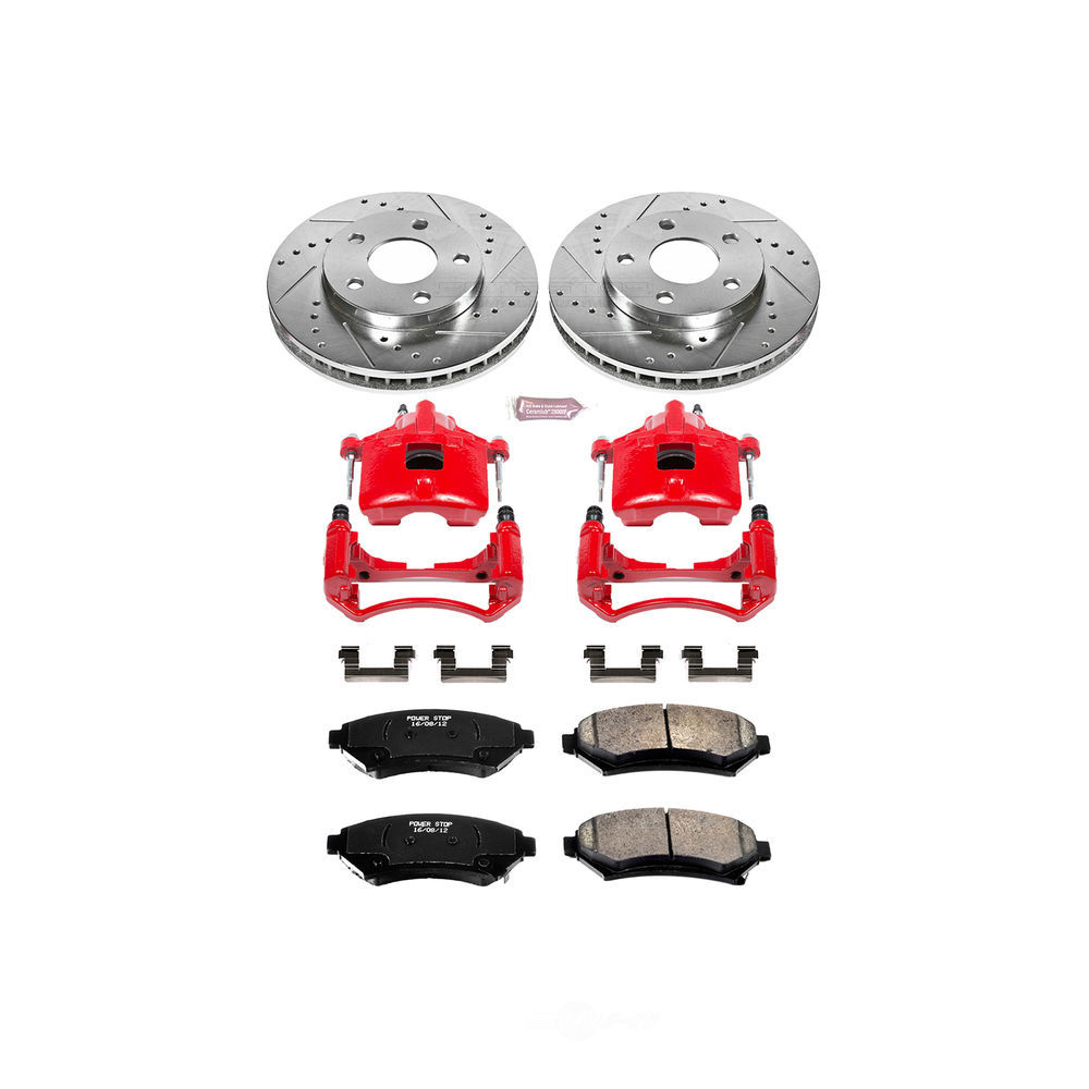 POWER STOP - Z23 Evolution Sport Performance 1-Click Brake Kit w/Calipers (Front) - PWS KC2553