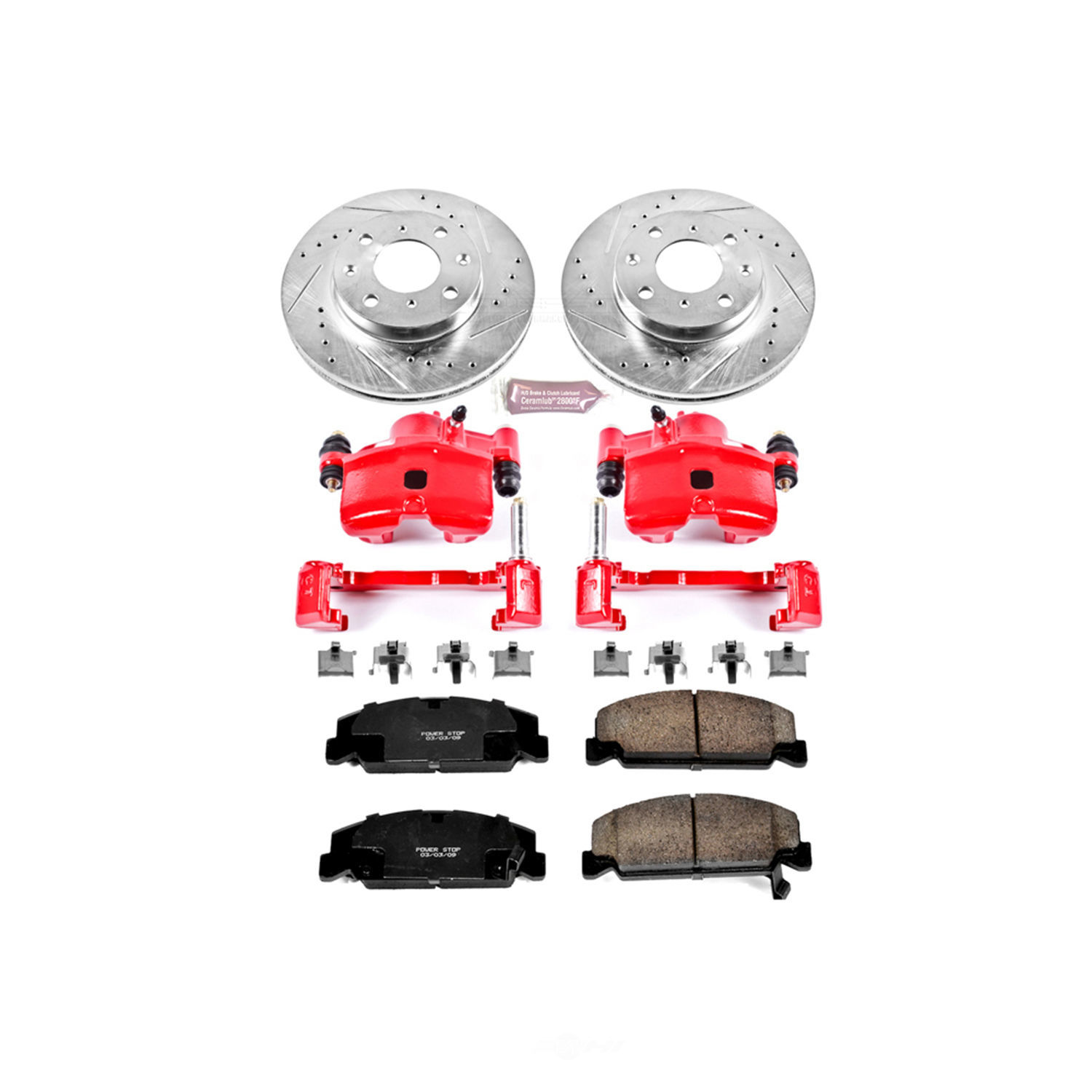 POWER STOP - Z23 Evolution Sport Performance 1-Click Brake Kit w/Calipers (Front) - PWS KC699