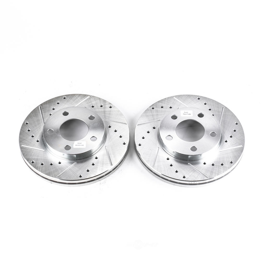 POWER STOP - Evolution Performance Drilled, Slotted& Plated Brake Rotor Pair (Front) - PWS AR8141XPR