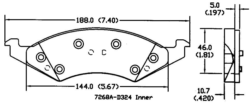 POWER STOP - Power Stop - Front PM18 Posi-Mold Semi-Metallic Brake Pads - PWS PM18-324