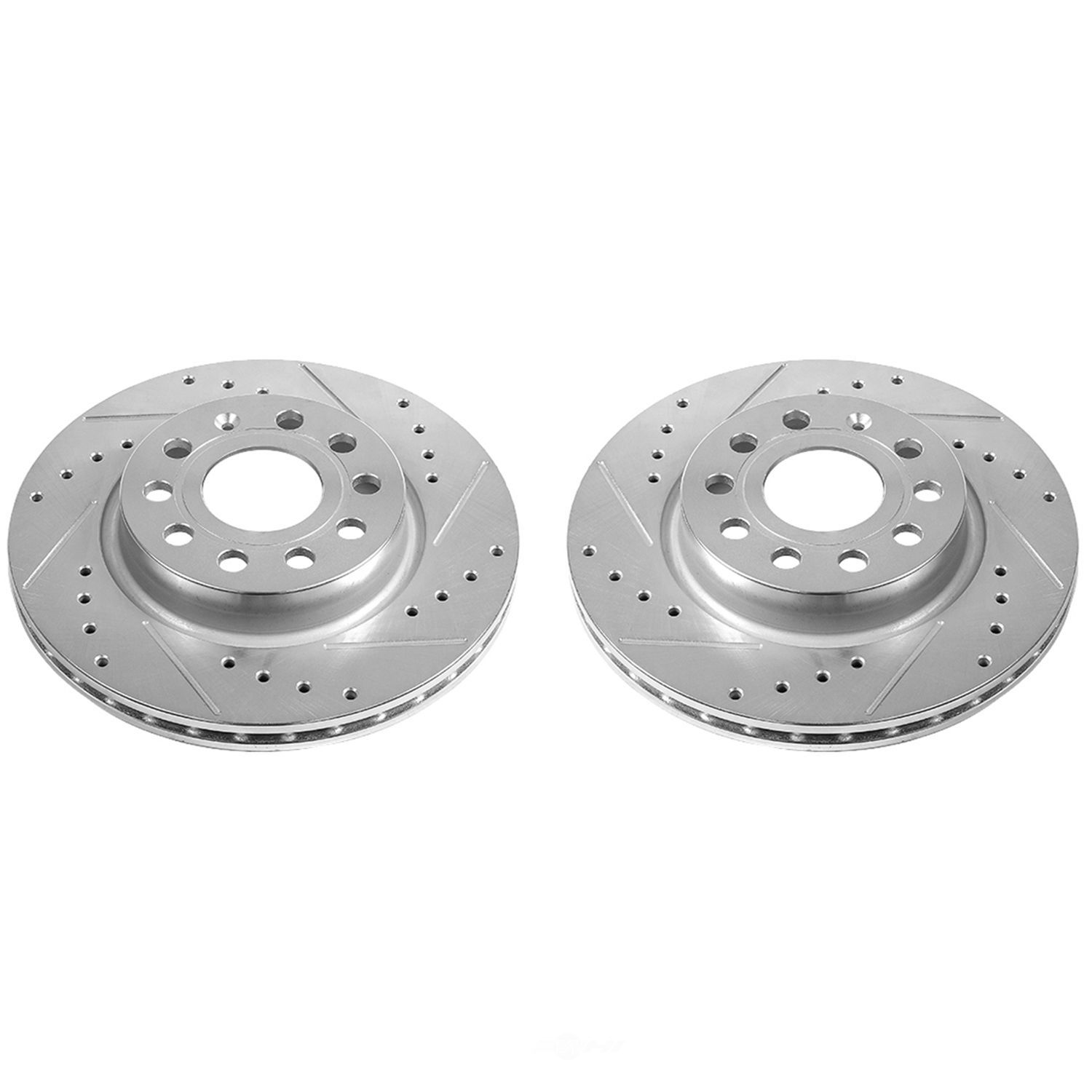 POWER STOP - Extreme Performance Drilled & Slotted Brake Rotor (Front) - PWS EBR1289XPR