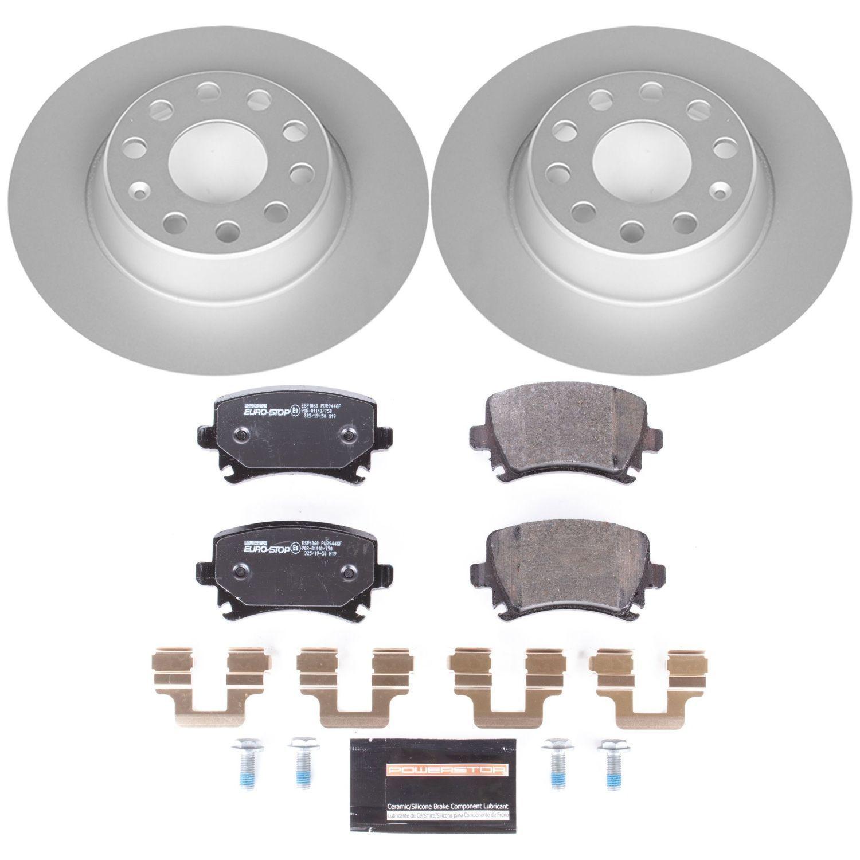 POWER STOP - Euro-Stop ECE-R90 Certified Brake Kit - PWS ESK2261