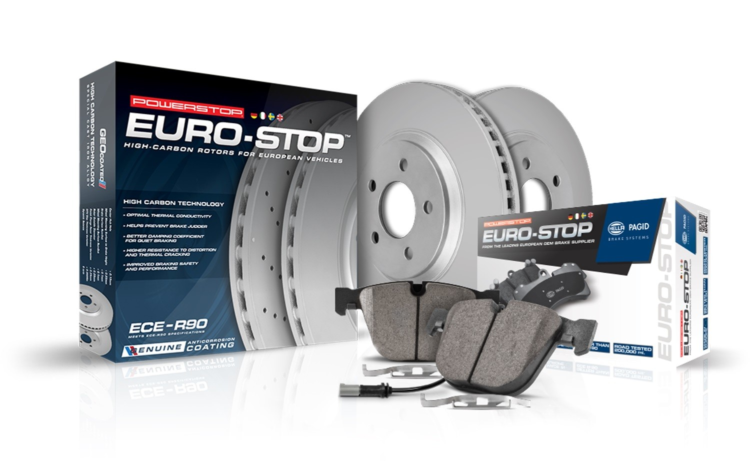 POWER STOP - Euro-Stop ECE-R90 Certified Brake Kit - PWS ESK6377