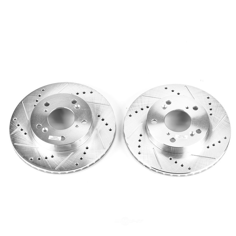 POWER STOP - Evolution Performance Drilled, Slotted& Plated Brake Rotor Pair (Front) - PWS JBR1551XPR