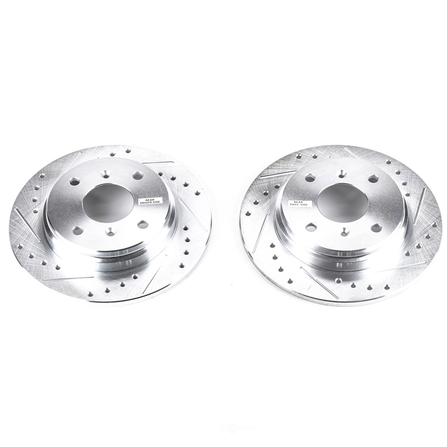 POWER STOP - Evolution Performance Drilled, Slotted& Plated Brake Rotor Pair (Rear) - PWS JBR307XPR