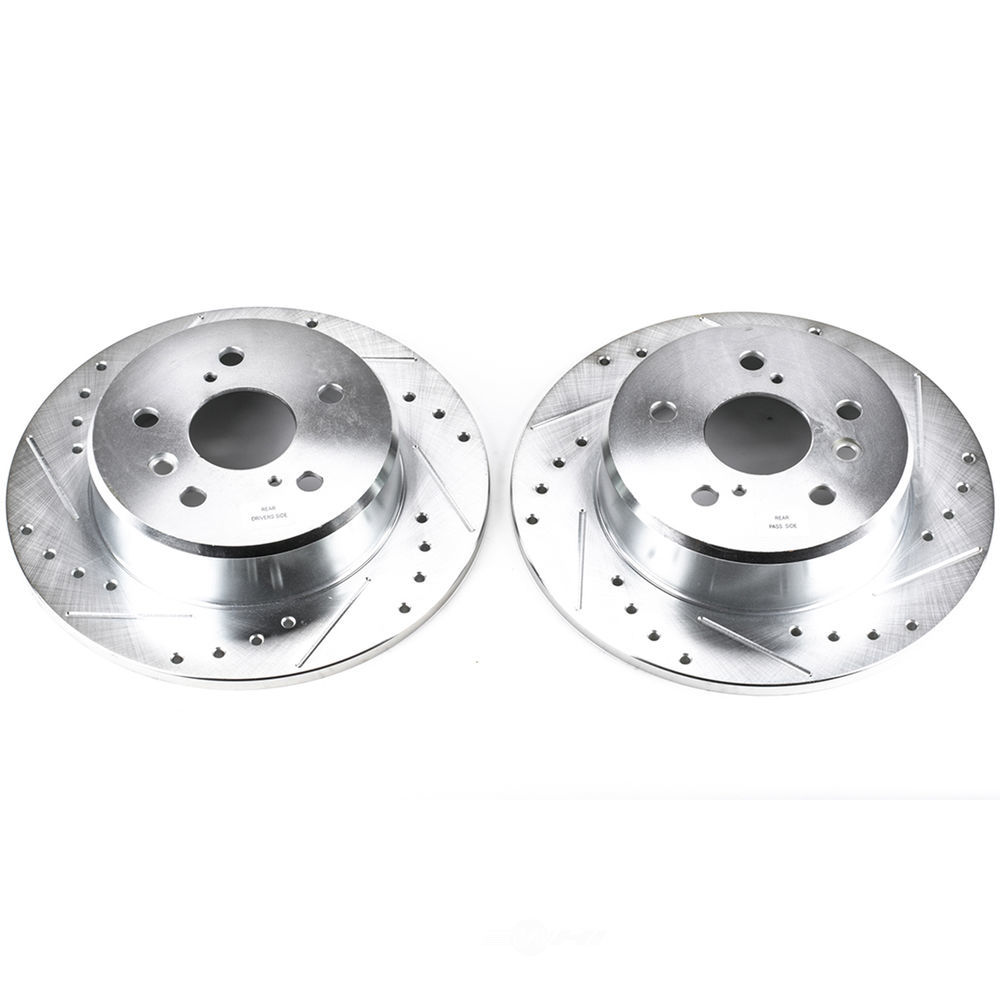 POWER STOP - Extreme Performance Drilled & Slotted Brake Rotor (Rear) - PWS JBR738XPR
