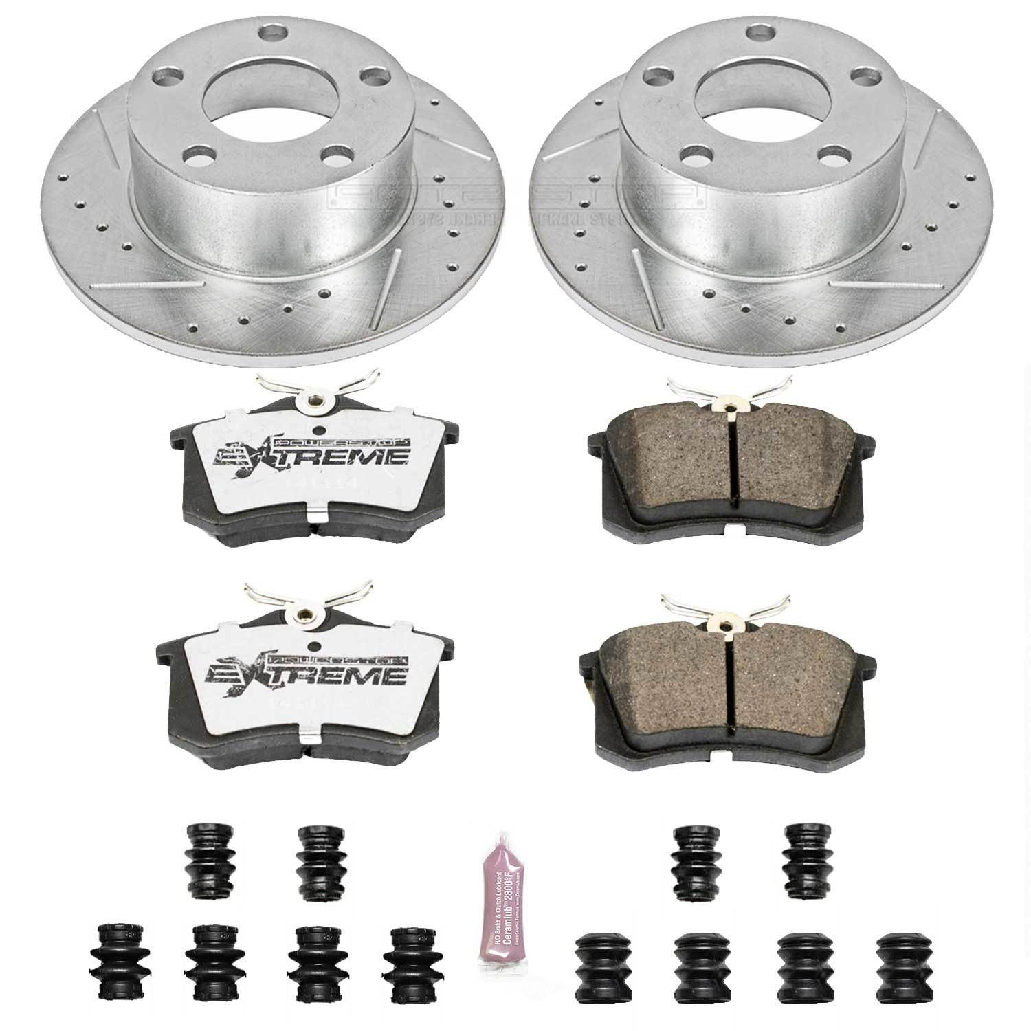 POWER STOP - Z26 Street Warrior 1-Click Brake Kit (Rear) - PWS K515-26