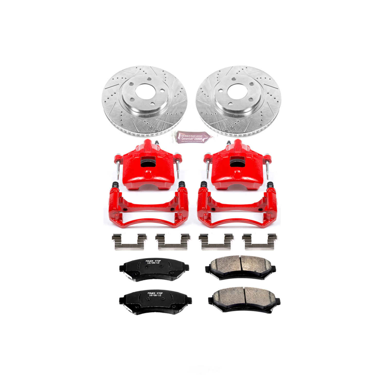 POWER STOP - Z23 Evolution Sport Performance 1-Click Brake Kit w/Calipers (Front) - PWS KC1542