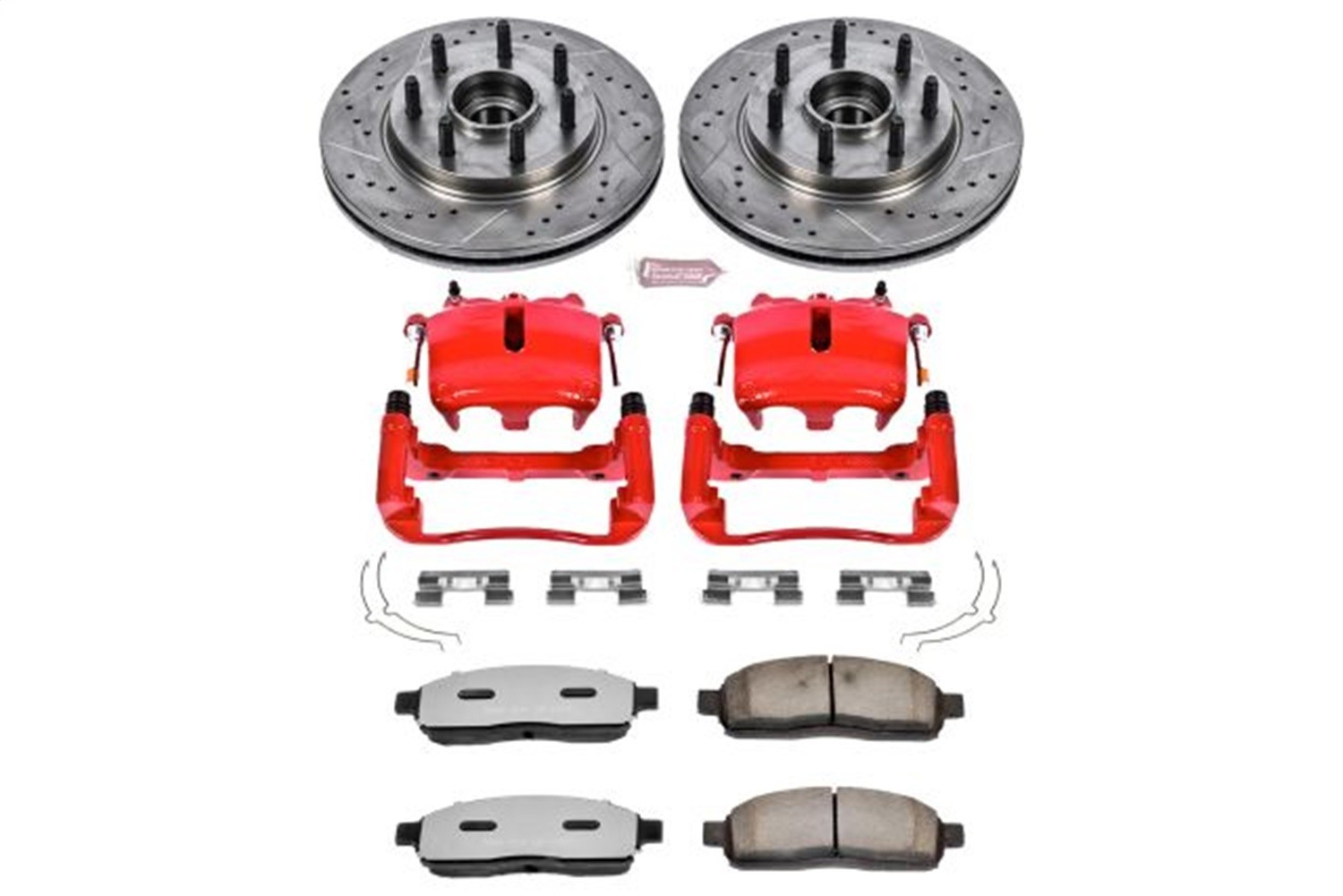 POWER STOP - Z36 Extreme Performance Truck & Tow 1-Click Brake Kit w/Calipers (Front) - PWS KC1941A-36