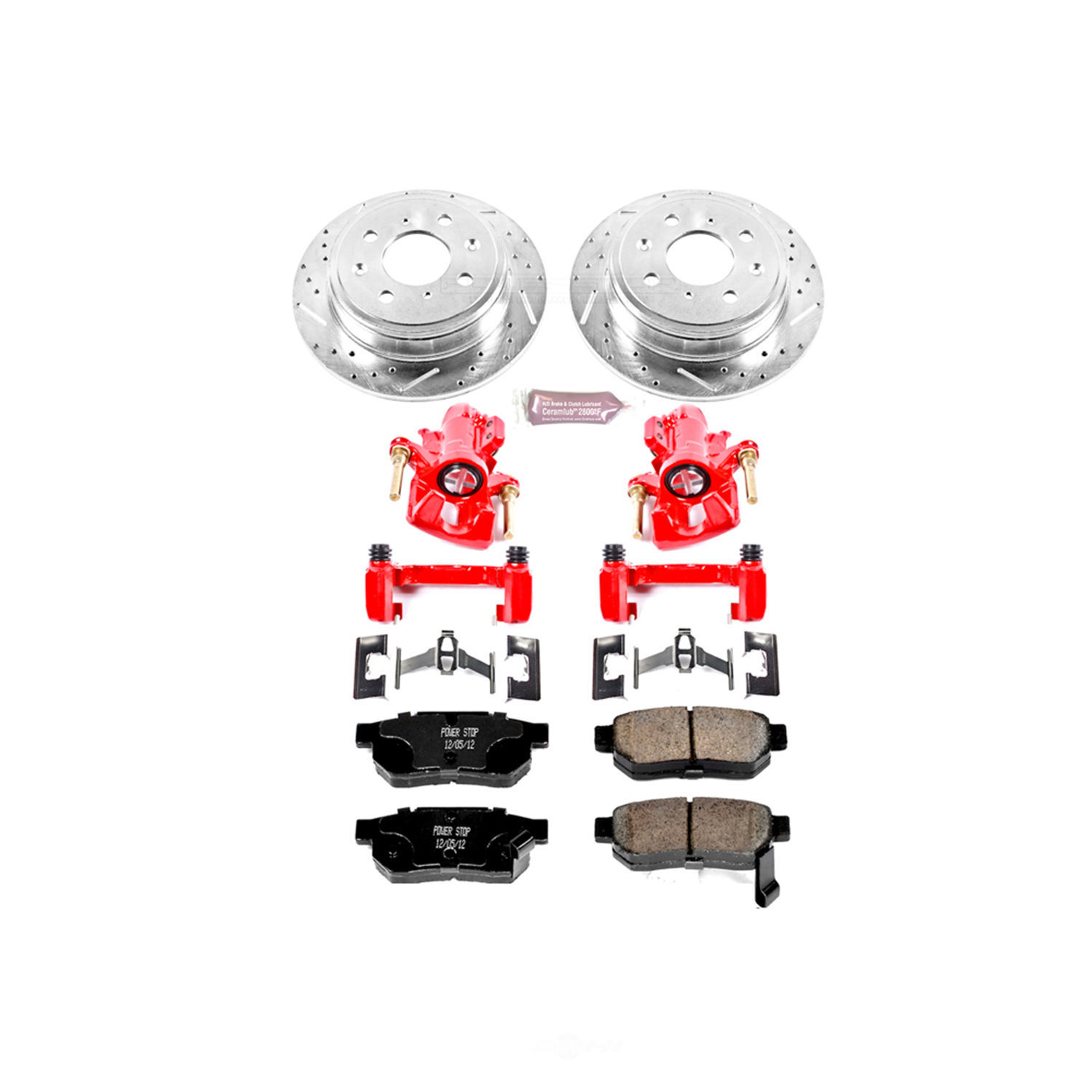 POWER STOP - Z23EvolutionSport Brake Upgrade Kit with Powder Coated Calipers - PWS KC408