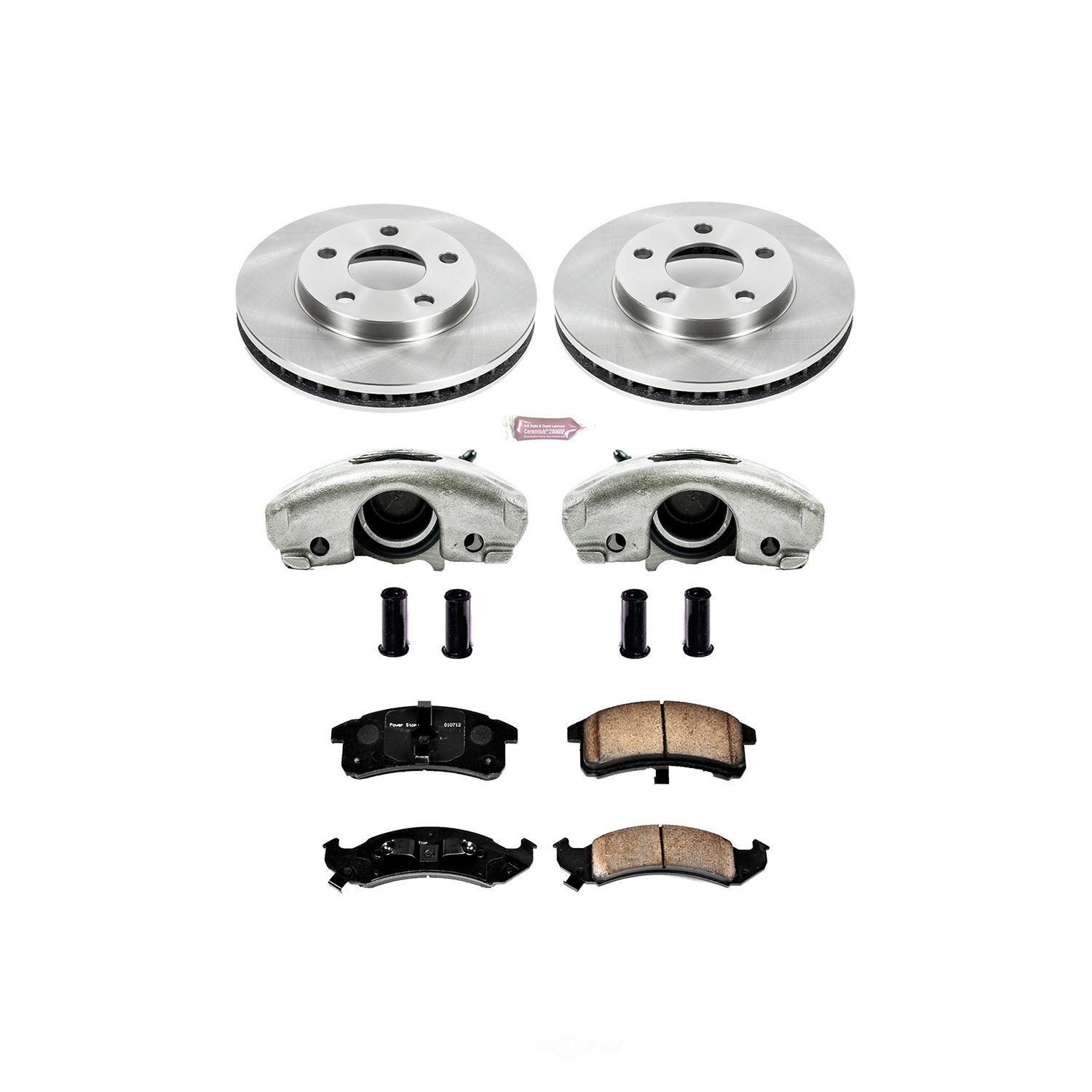 POWER STOP - Autospecialty By Power Stop 1-Click OE Replacement Brake Kit w/Calipers (Front) - PWS KCOE1534