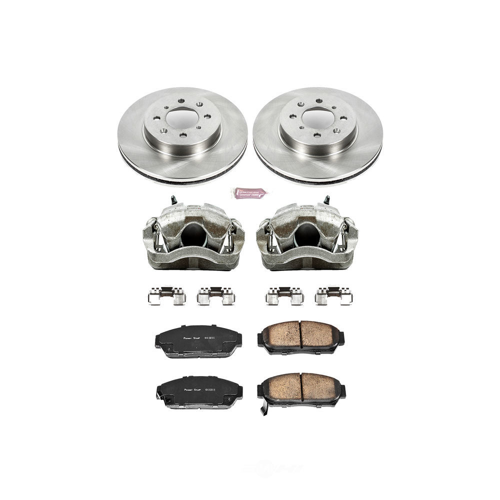 POWER STOP - Autospecialty By Power Stop 1-Click OE Replacement Brake Kit w/Calipers (Front) - PWS KCOE692
