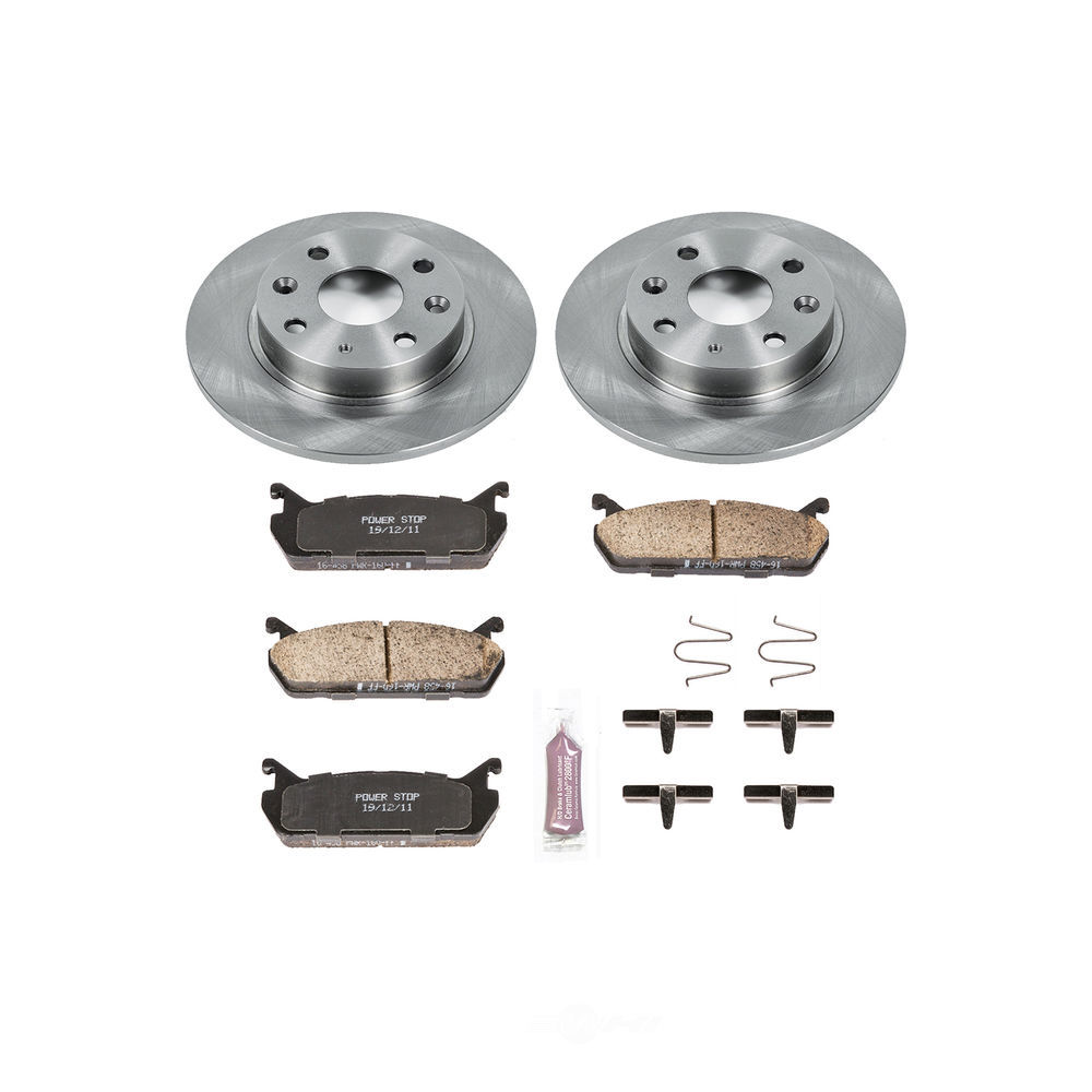 POWER STOP - Autospecialty By Power Stop 1-Click Daily Driver Brake Kits (Rear) - PWS KOE719