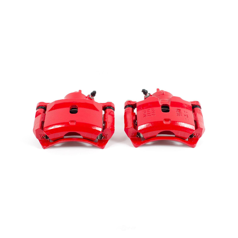 POWER STOP - Red PowderCoatedBrake Caliper Pair - PWS S1334