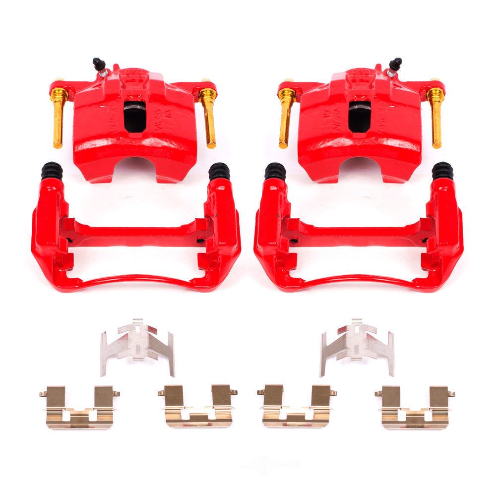 POWER STOP - Red PowderCoatedBrake Caliper Pair - PWS S1460