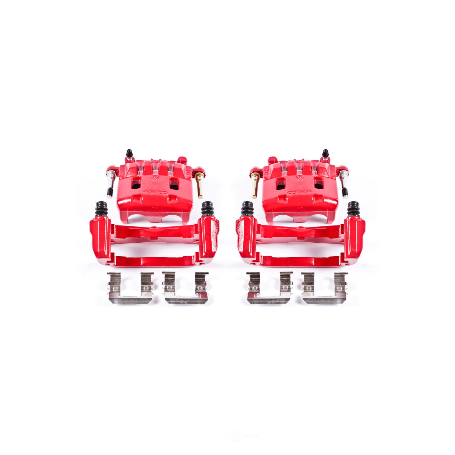 POWER STOP - Red PowderCoatedBrake Caliper Pair (Front) - PWS S2682A