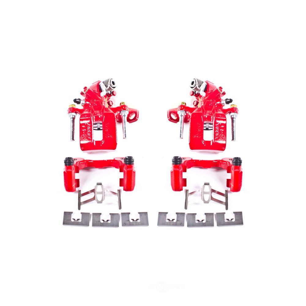 POWER STOP - Red PowderCoatedBrake Caliper Pair (Rear) - PWS S3298