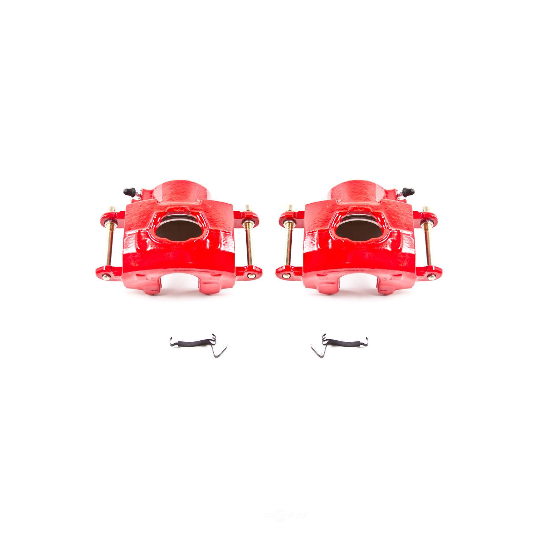 POWER STOP - Red PowderCoatedBrake Caliper Pair - PWS S4020