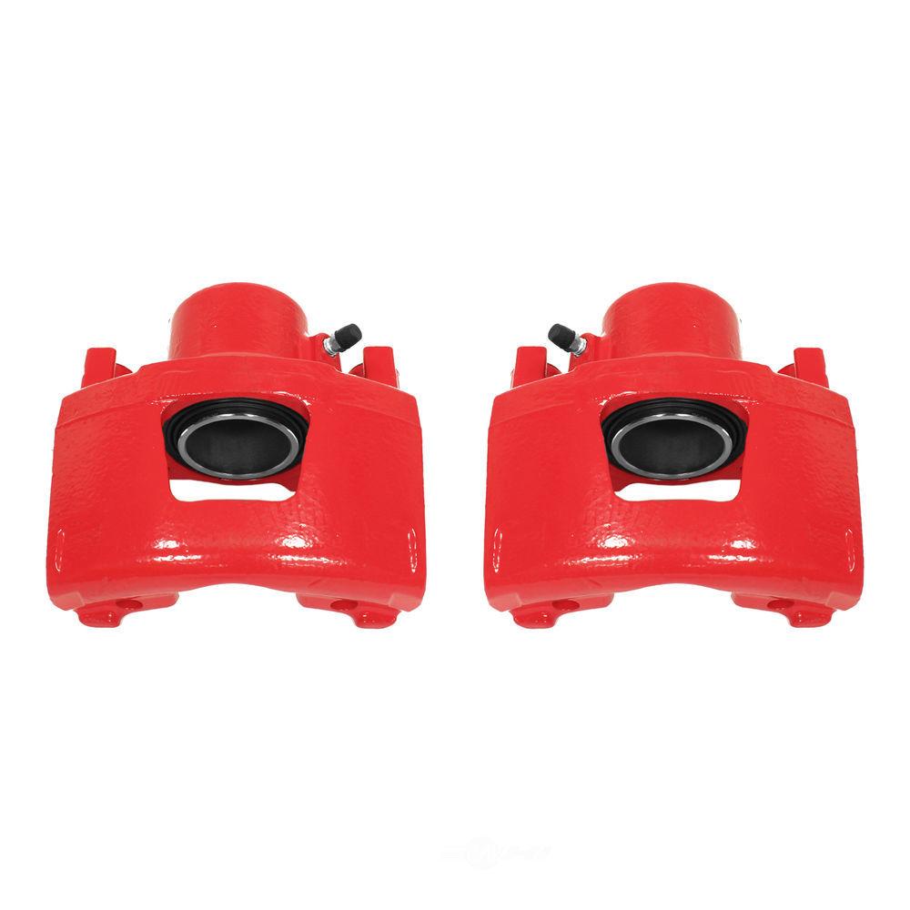 POWER STOP - Red PowderCoatedBrake Caliper Pair - PWS S4354