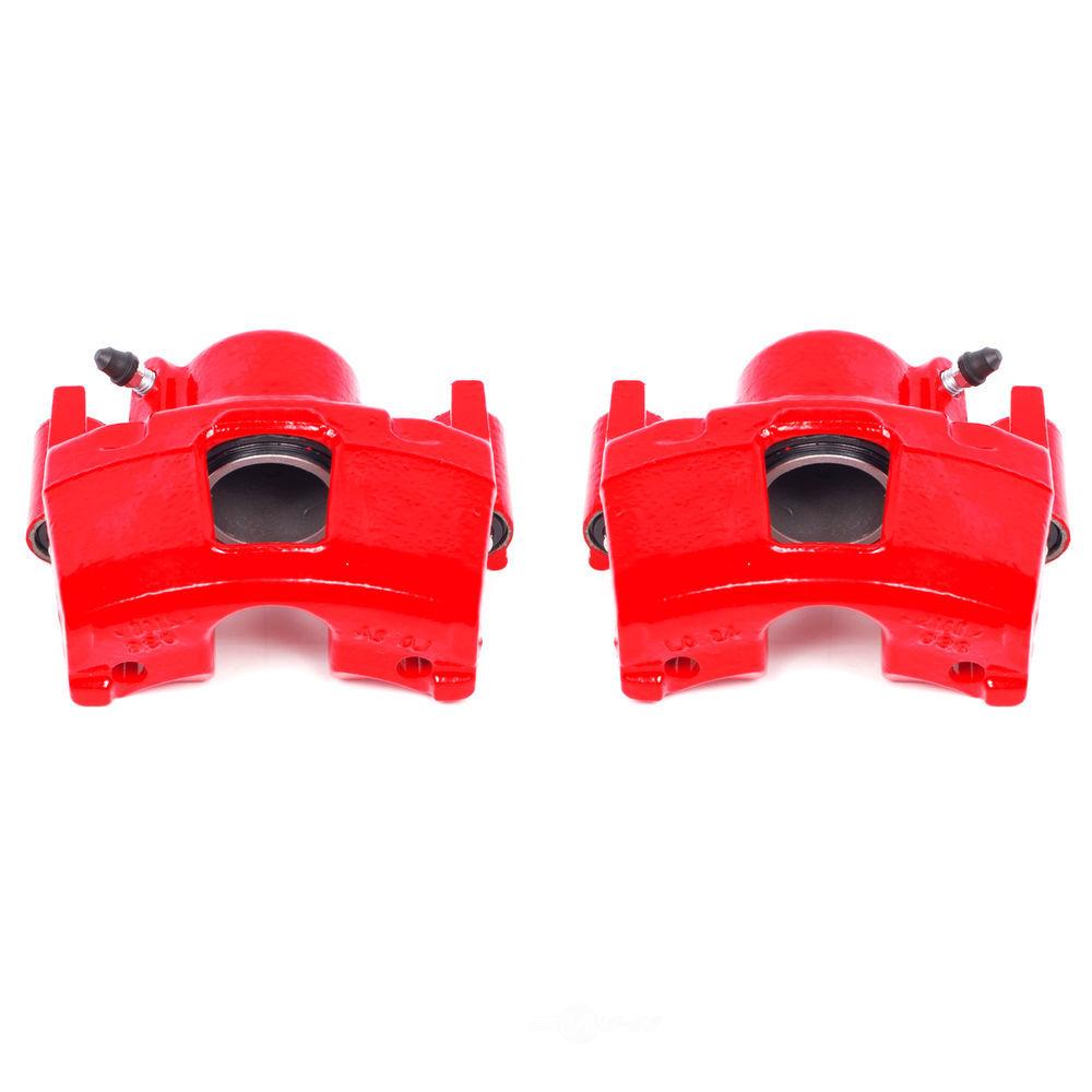 POWER STOP - Red PowderCoatedBrake Caliper Pair - PWS S4356