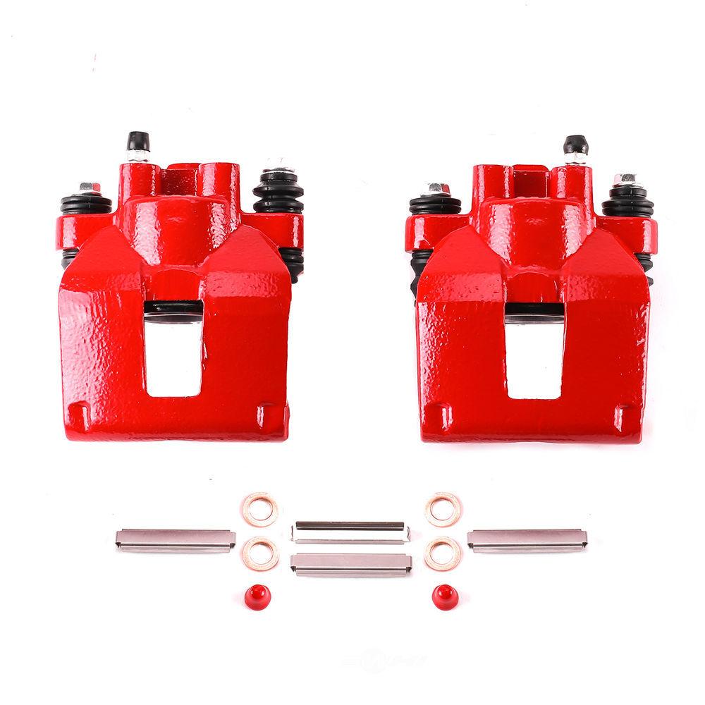POWER STOP - Red PowderCoatedBrake Caliper Pair - PWS S4604