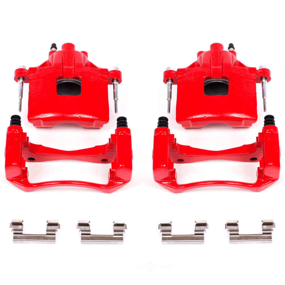 POWER STOP - Red PowderCoatedBrake Caliper Pair - PWS S4638A