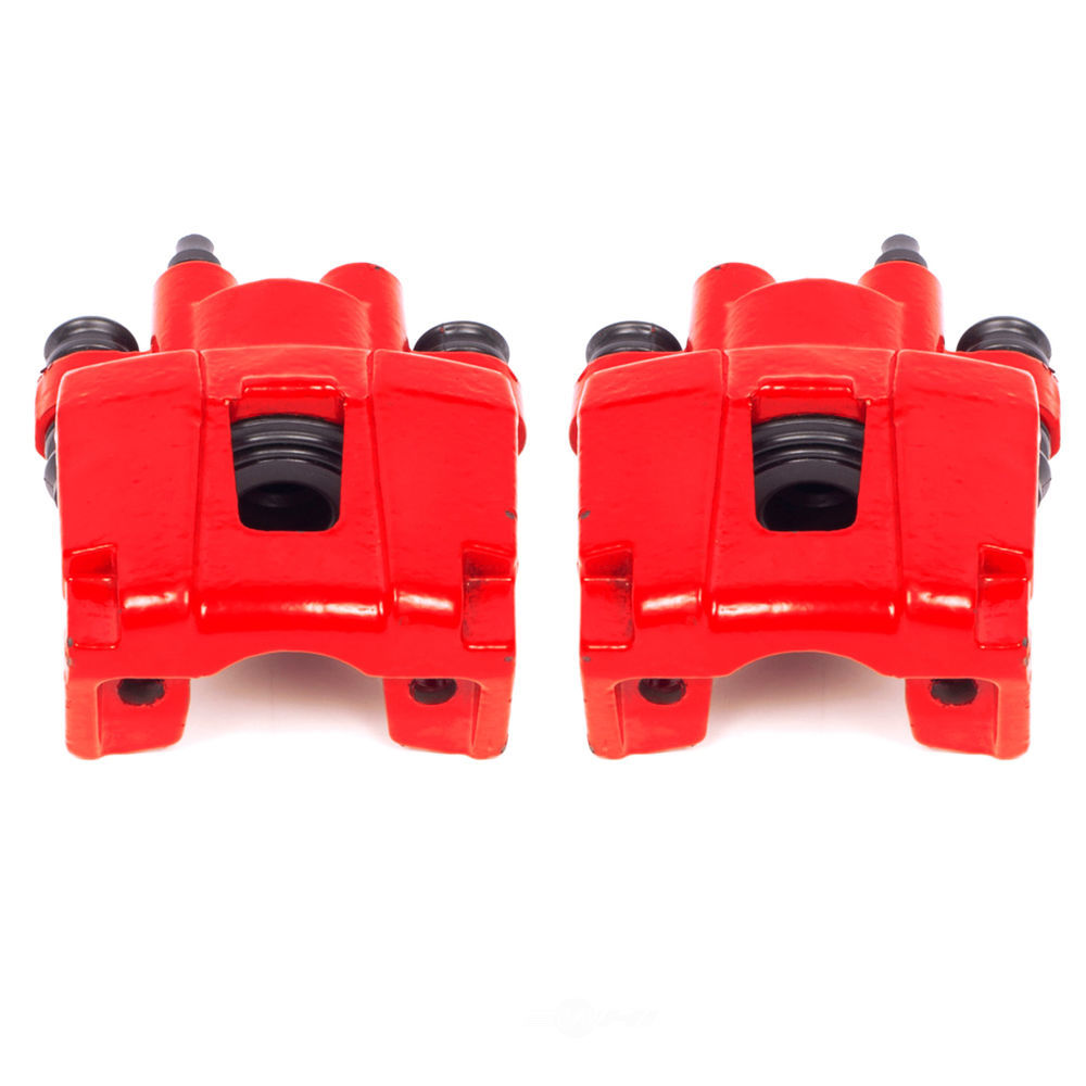 POWER STOP - Red PowderCoatedBrake Caliper Pair - PWS S4754