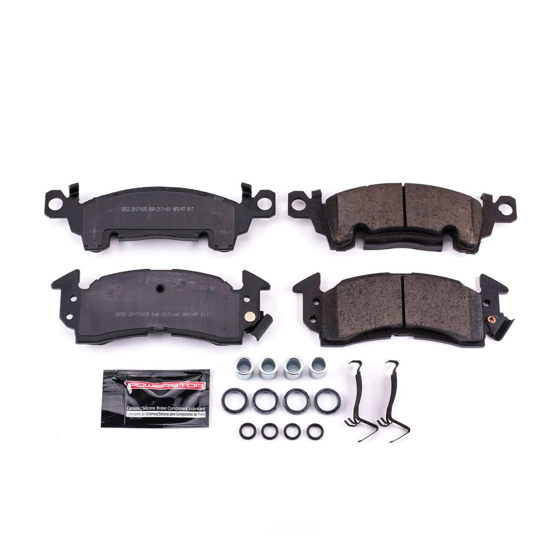 POWER STOP - Z23 Evolution Sport Carbon Fiber/Ceramic Brake Pads w/Hardware Kit (Front) - PWS Z23-052