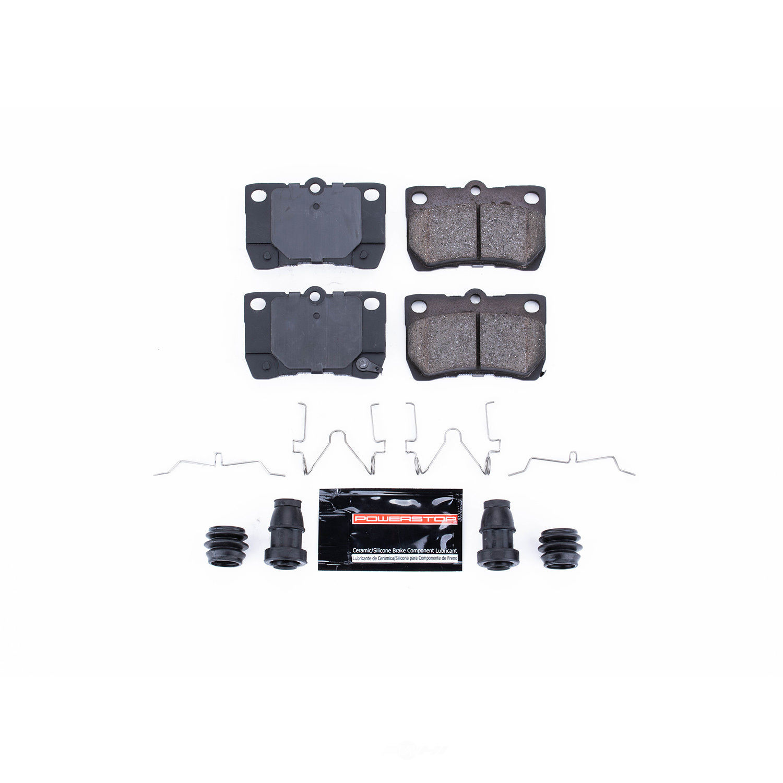 POWER STOP - Z23 Evolution Sport Carbon Fiber/Ceramic Brake Pads w/Hardware Kit (Rear) - PWS Z23-1113