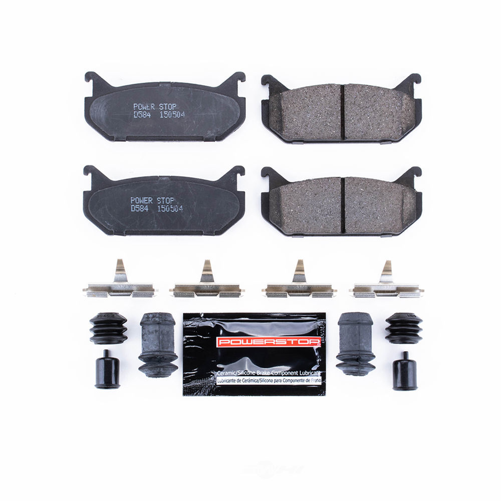 POWER STOP - Z23 Evolution Sport Carbon Fiber/Ceramic Brake Pads w/Hardware Kit (Rear) - PWS Z23-584