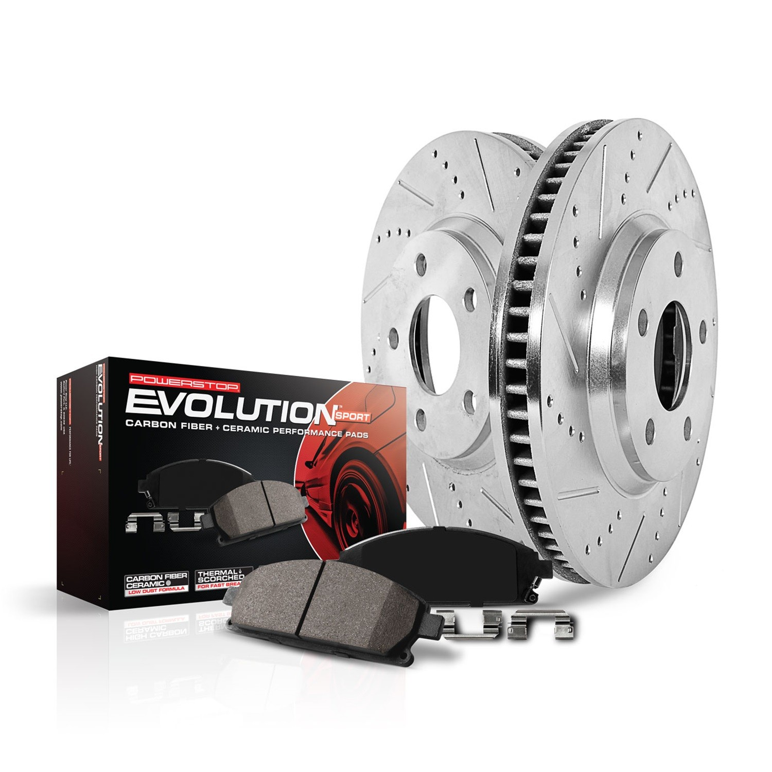 POWER STOP - Z23 Evolution Sport Performance 1-Click Brake Kit (Rear) - PWS K7045