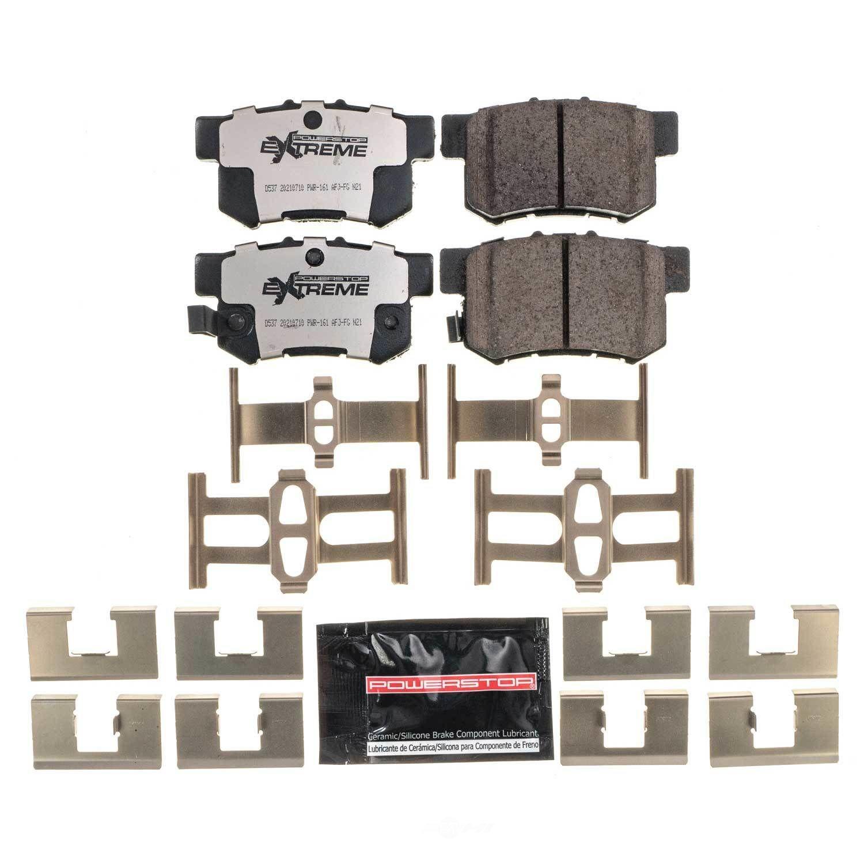 POWER STOP - Z26 New Formulation Brake Pad and Hardware Kit (Rear) - PWS Z26-537