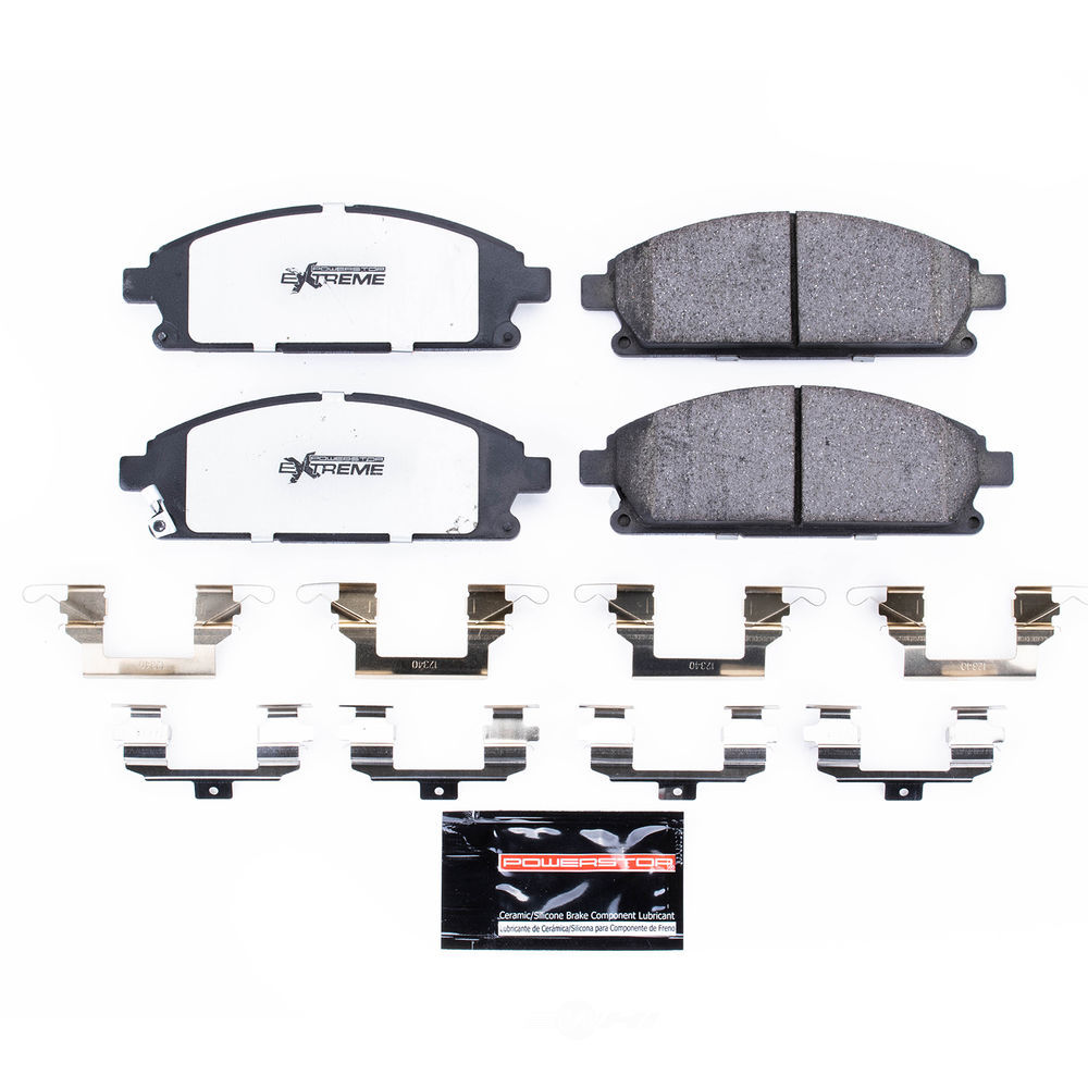 POWER STOP - Z36 Truck and Tow Carbon Fiber-Ceramic Brake Pads with Hardware (Front) - PWS Z36-691